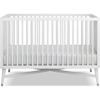 Liam Convertible Crib - White