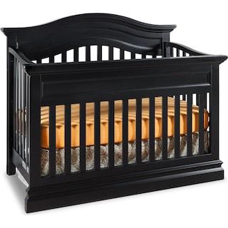 Eli Contour Crib - Black