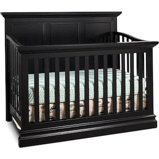 Eli Panel Crib - Black