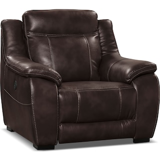 Rosslare Power Reclining Chair – Brown