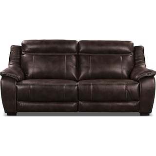 Rosslare Power Reclining Sofa – Brown