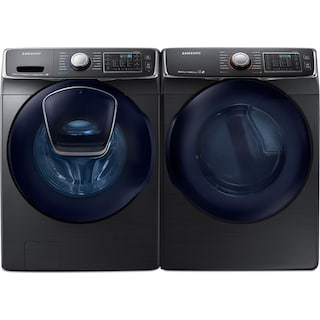 Samsung 5.8 Cu. Ft. Front-Load Washer and 7.5 Cu. Ft. Electric Dryer – Black Stainless Steel