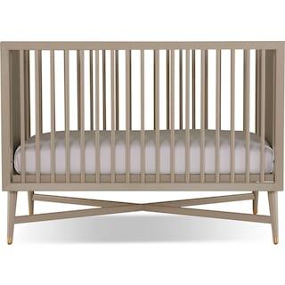 Liam Convertible Crib - French Grey