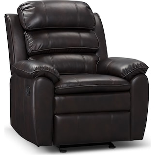 Herning Reclining Glider Chair – Brown