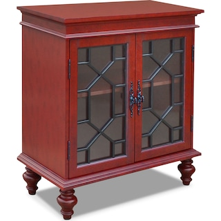 Faversham Small Accent Cabinet – Red