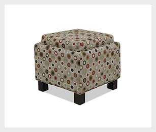 Hayes storage ottoman with 2 pillows