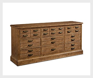 Primitive Hardware 9-drawer dresser