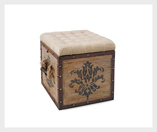 Teca storage cube ottoman