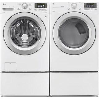 LG TWIN Wash™ 5.2 Cu. Ft. Washer, 7.4 Cu. Ft. Dryer, Pedestal Washer and Storage Pedestal