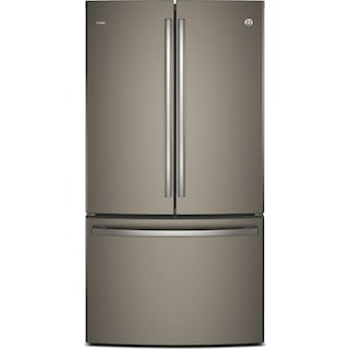 GE 23.1 Cu. Ft. French-Door Refrigerator with Internal Water Dispenser – PWE23KMKES