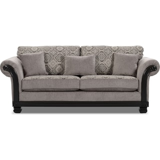 Halewood Full-Size Sofa Bed - Grey
