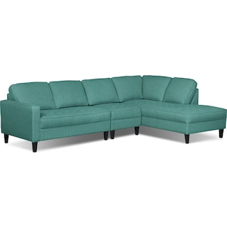 Atherton 3-Piece Right-Facing Sectional – Ocean