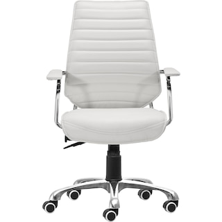 Birmingham Low Back Office Chair - White