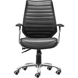 Birmingham Low Back Office Chair - Black