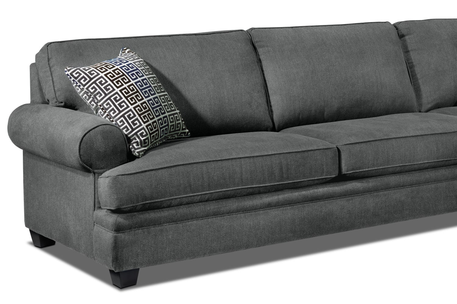 Madrid 2 piece sectional charcoal for Furniture madrid