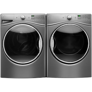 Whirlpool 5.2 Cu. Ft. Front-Load Washer and 7.4 Cu. Ft. Electric Dryer