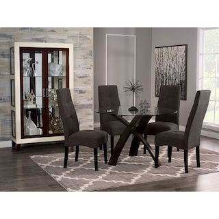 Salia 5-Piece Dining Package with Dining Chairs – Grey