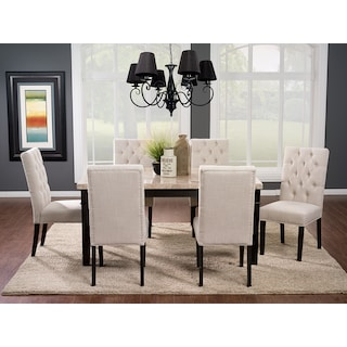 Ashburton 7-Piece Dining Package with Side Chairs