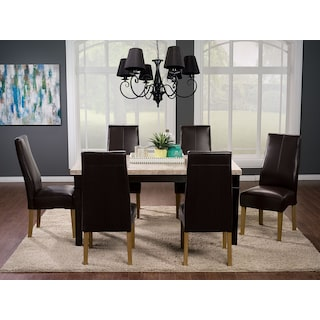 Ashburton 7-Piece Dining Package with Dining Chairs