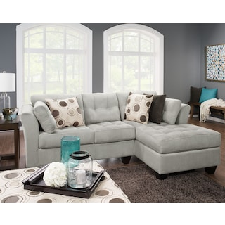 Inspired by U 2-Piece Right-Facing Sectional – Pewter