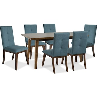 Temecula 7-Piece Dining Package with Aqua Chairs
