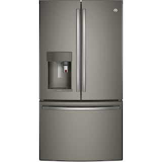 GE 22.1 Cu. Ft. French-Door Refrigerator with Keurig® Brewing System – PYE22PMKES