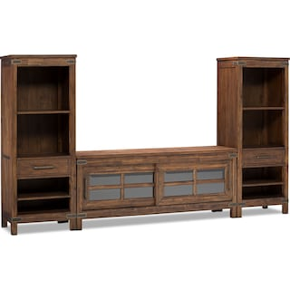 """Grover Beach 3-Piece Entertainment Centre with 64"""" TV Opening"""