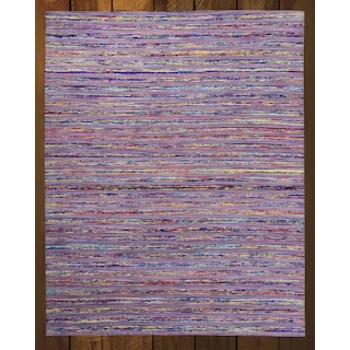 Lazzaro Purple 5' x 8' Area Rug