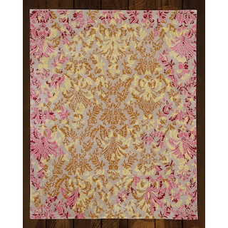 Mable Beige/Pink  5' x 8' Area Rug