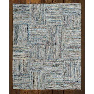 Rainbow Patch Beige 5' x 8' Area Rug