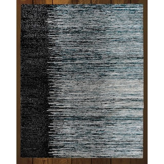Rainbow Ekkat Black/Grey 5' x 8' Area Rug