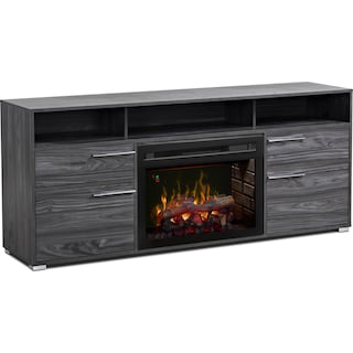 """Lydd 66"""" TV Stand with Log Firebox"""