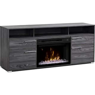 """Lydd 66"""" TV Stand with Acrylic Ice Firebox"""