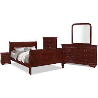 Avenue 7-Piece Queen Bedroom Package – Cherry