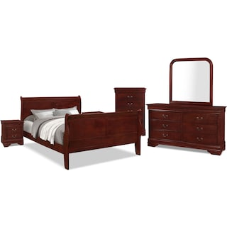 Avenue 8-Piece Full Bedroom Package – Cherry