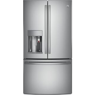 GE 27.7 Cu. Ft. French-Door Refrigerator with Keurig® Brewing System – PFE28PSKSS