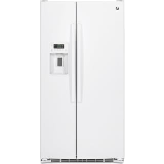 GE 25.4 Cu. Ft. Side-By-Side Refrigerator – GSE25GGHWW