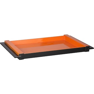 Laura Serving Tray - Orange, Black