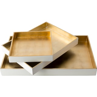 Antra Serving Tray - White (Set of 3)