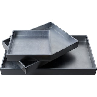 Antra Serving Tray - Grey (Set of 3)