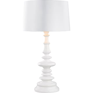 Sandra Outdoor Table Lamp with White Shade
