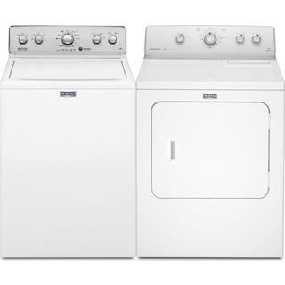 Maytag 3.6 Cu. Ft. Top-Load Washer and 7.0 Cu. Ft. Gas Dryer – White