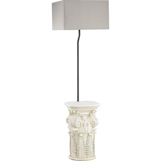 Brooke Indoor / Outdoor Floor Lamp with Taupe Shade