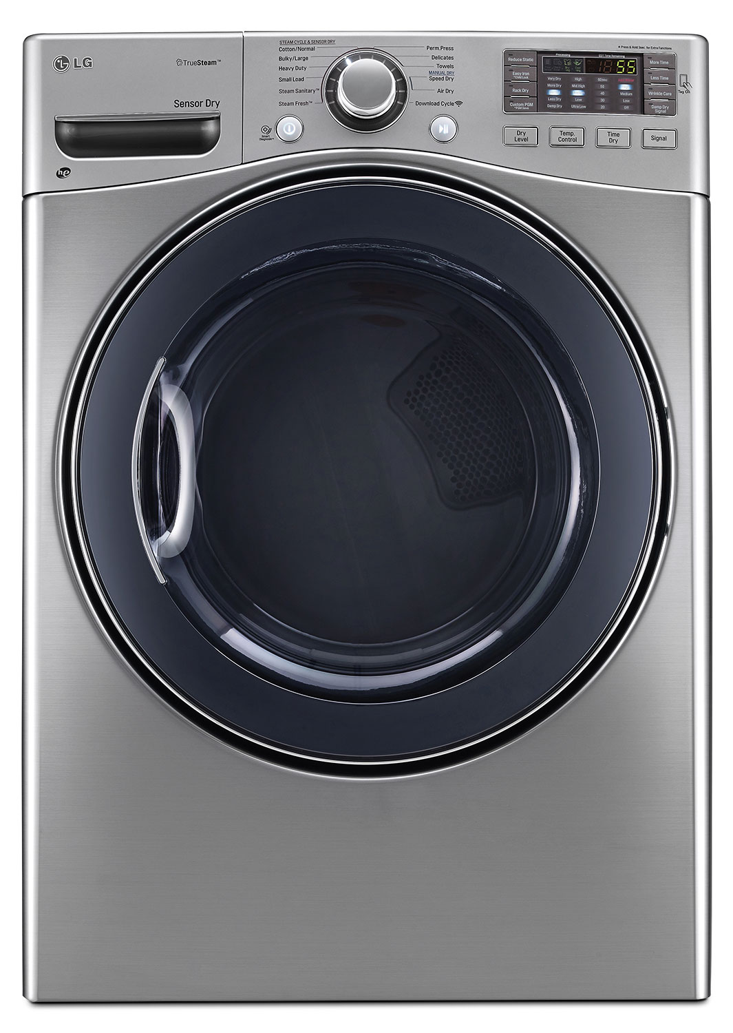 Washers and Dryers - LG 7.4 Cu. Ft. Ultra-Large Capacity High-Efficiency Electric SteamDryer™ – Graphite Steel