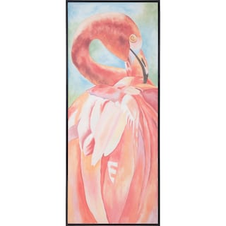 "24"" x 60"" Maya Pink Flamingo Canvas Art"