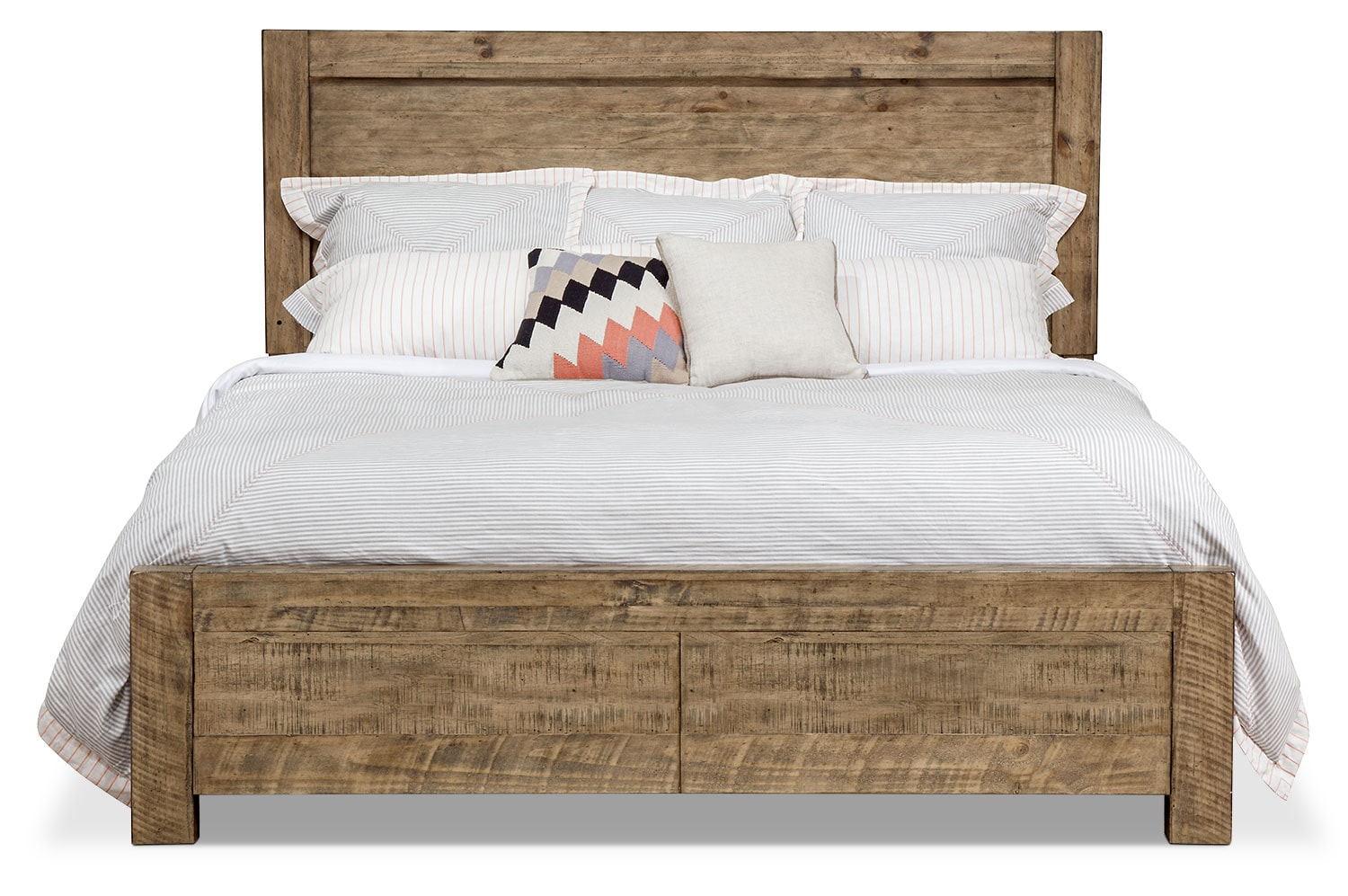 Nobber queen panel bed with storage footboard for Queen footboard