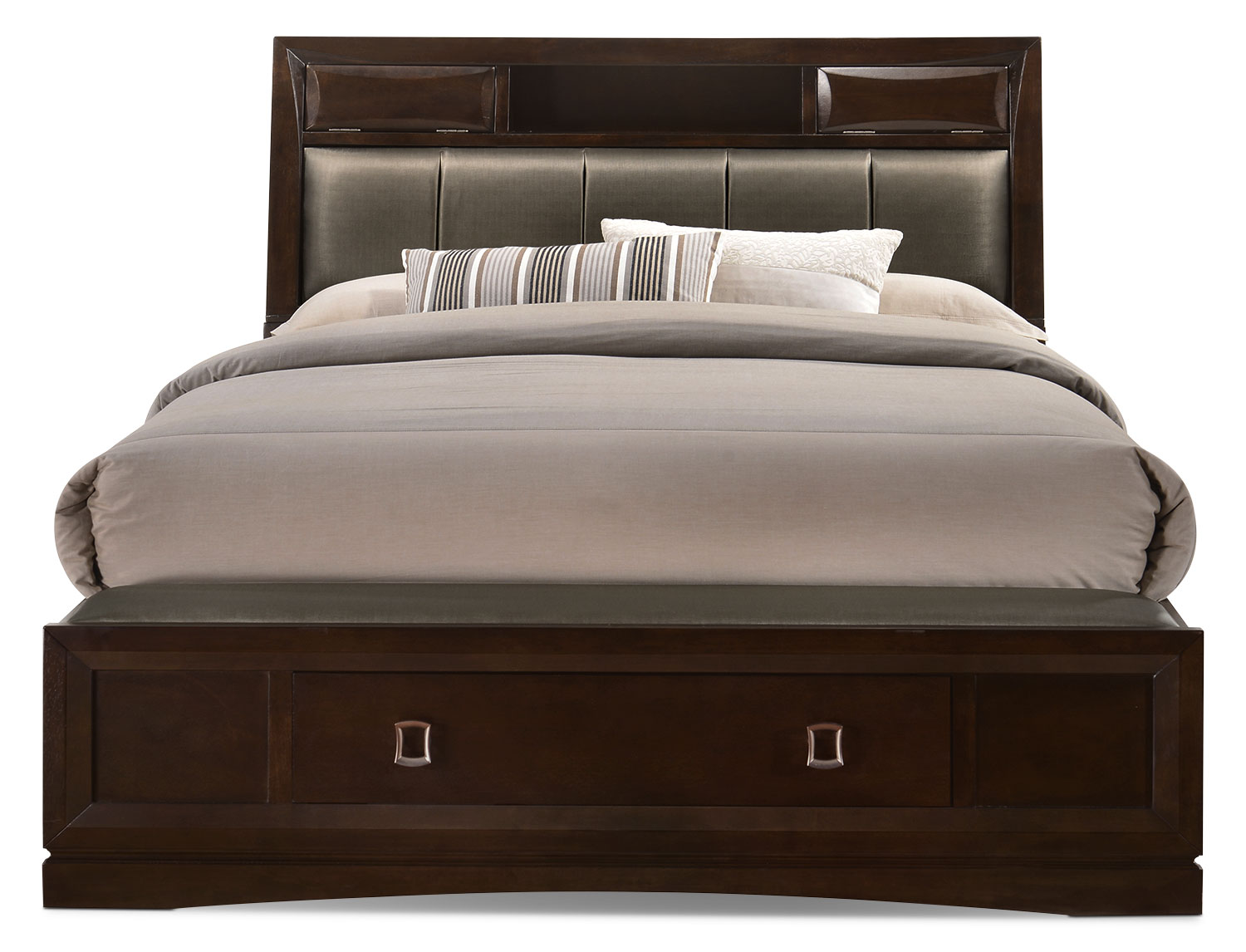 Beanston king bookcase storage bed - Bookcase headboard king bedroom set ...