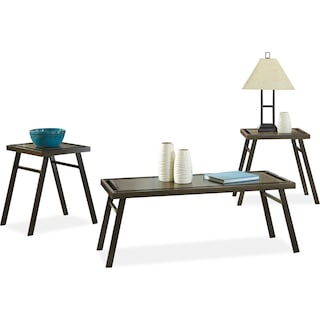Crampton 3-Piece Coffee and Two End Tables Package