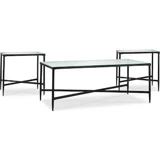 Claston 3-Piece Coffee and Two End Tables Package