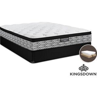 Kingsdown Mathis Cushion Firm King Mattress and Split Boxspring Set